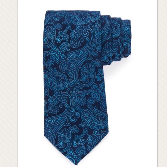 Michael Kors Other - Michael Kors Paisley Tie - Teal